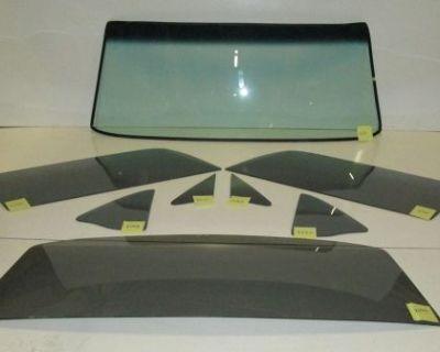 1969 1970 Mustang Fastback Glass Pkg, Windshield Side Set, Back Glass Smoke Grey