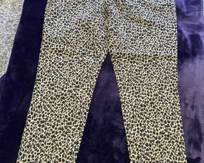 Brand New Leopard Ankle Pants