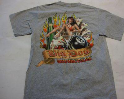 Big Dog Motorcycles Gray Man's Ruin Shirt 3xl Short Sleeve Bdm