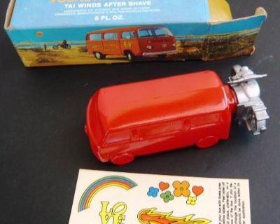 Avon VW Bus After Shave Decanter