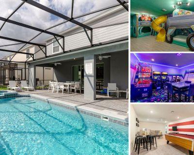 Windsor Island Luxury | NEW Home in Windsor Island Resort, Private Pool, Arcade - Davenport