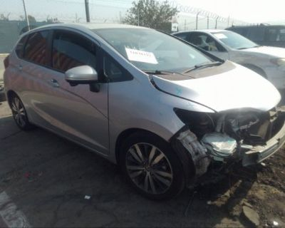 Salvage Silver 2015 Honda Fit