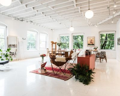 A creative daylight studio and gathering space. Perfect for brand influencers and beauty, fashion, and design related events., Portland, OR