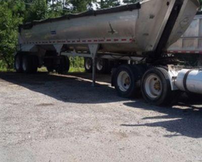 1998 Alumatech 39'x8' All Aluminum Frameless End Dump Trailer