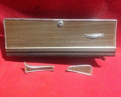 66 Caprice Glove Box Door Woodgrain 1966