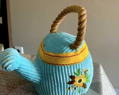 Watering can plush toy for dog
