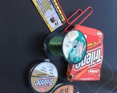 Fishing line and rod holder package.