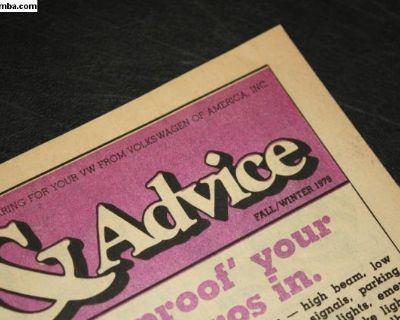 1979 Dealer Newsletter Vehicle Model Book Scirocco
