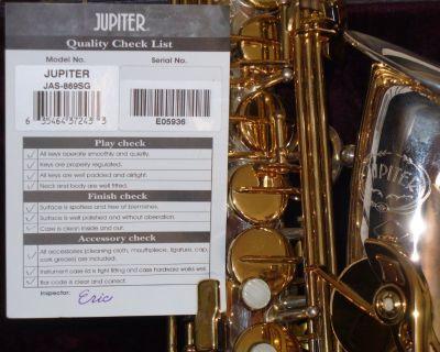 Jupiter JAS - 869SG Eb Alto Saxophone Silver/Gold