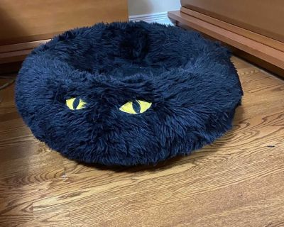 Very Beautiful Cats/small dog bed. The fake fur cover easily removed for washing in washer machine . Price: 10$