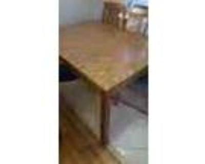 Dining Table With Leaf And Small Shelf