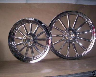 Harley Dyna Sportster Softail Fxr Chrome Wheels Rims