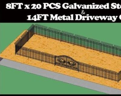 Steelman Galvanized Steel Fencing & Entry Gates - Unused