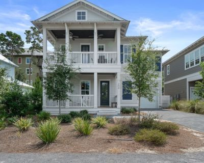 Heated pool/5-6 min walk to beach/self check in-out/pingpong table/patio w/TV - Lakeside at Blue Mountain Beach