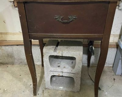 Antique Precision Deluxe Sewing Machine Table