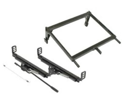 Bolt-in Seat Mount Adapter Kit W/ Sliders, Wire