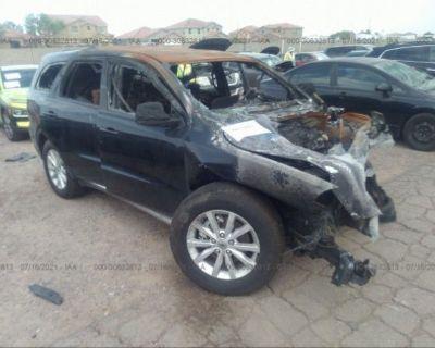 Salvage Black 2020 Dodge Durango