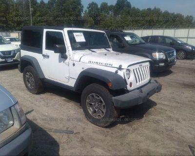 Salvage White 2013 Jeep Wrangler