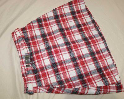 Plaid Red Skirt