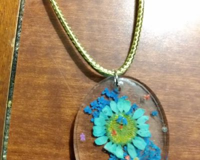 Real Dried Flowers Necklace