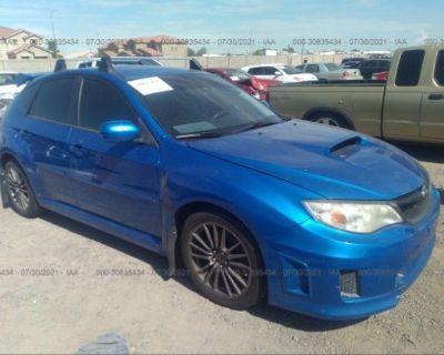 Salvage Blue 2013 Subaru Impreza Wagon Wrx
