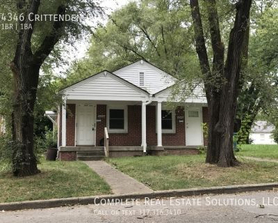 Now Showing this 1 bedroom, 1 bath duplex located at 4346 Crittenden Ave., Indianapolis, IN