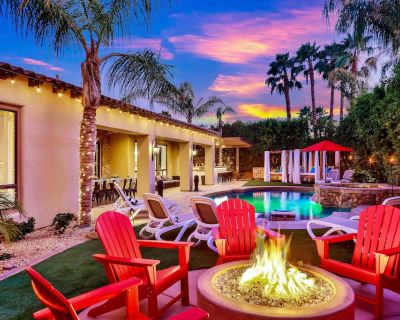 Venetian: Pool, Spa, Fire Pit, Cabanas, Games!!! - Indio