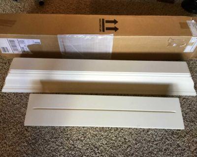3-Pottery Barn white crown molding ledges-2 @ 3ft & 1 @ 2ft
