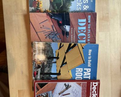 4 Deck and Patio Building Books
