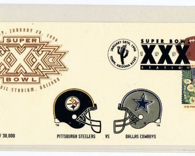1996 Sun Devil Super Bowl XXX Steelers vs. Cowboys Limited Edition Event Cover