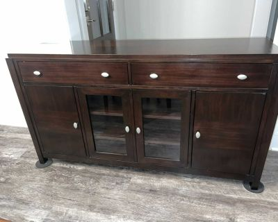 GUC 63 tv console table with storage