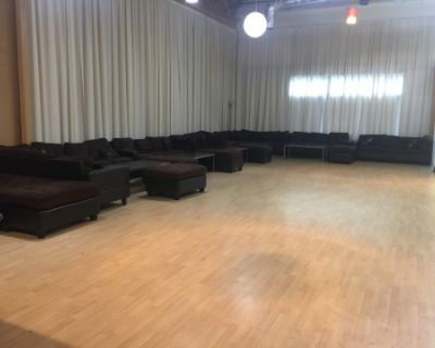 Contemporary Dance Studio with High Ceilings, LED lighting, drapes, stages, and DJ Booth !, Atlanta, GA