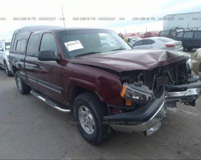 Salvage Maroon 2003 Chevrolet Silverado 1500
