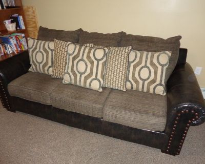 Affordable Sofa with Free Recliner/ Coffee Table