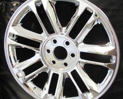 """22"""" Cadillac Escalade Platinum Factory Style Chrome Brand New Wheel Rim 5358"""