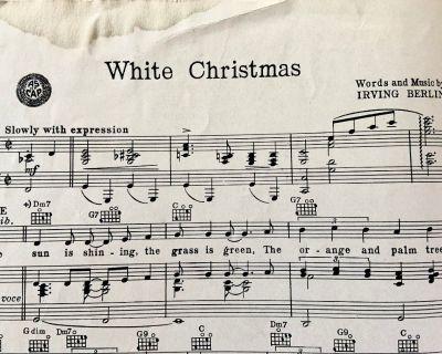 "Original Sheet Music to Irving Berlin's ""White Christmas"""