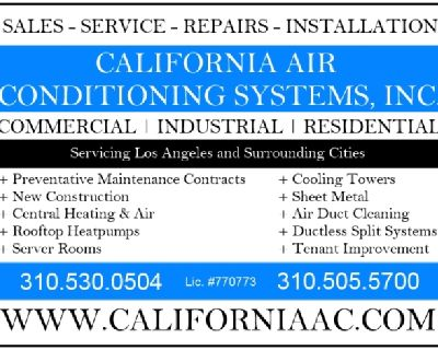 Heating & Air Conditioning Repairs, Services Los Angeles