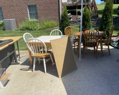 Solid wood tables and chairs