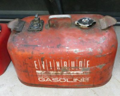 Vintage Evinrude Metal Gas Tank Can Outboard Boat Motor 6 Gallon Can