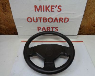 "Contoured. Bass Boat Steering Wheel ""b"" 13 Diam. 3.25"" Deep@@check This Out@@@"