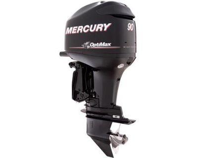 "New 2011 Mercury 90elpt Dfi 90hp Optimax 2-stroke Remote Outboard Motor 20"""