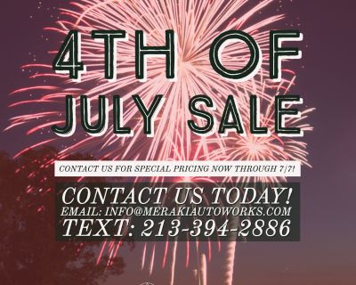 Fourth of July Performance SALE!