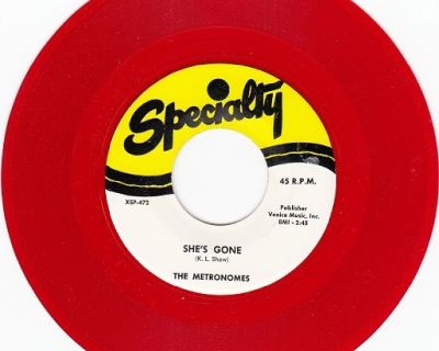 METRONOMES ~ She's Gone*Mint-45*RARE RED WAX !
