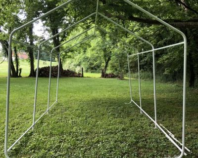 WONDERFUL, LARGE (18x26 ?) garage frame but also a cold frame for best greenhouse ever! Unbelievably only $75