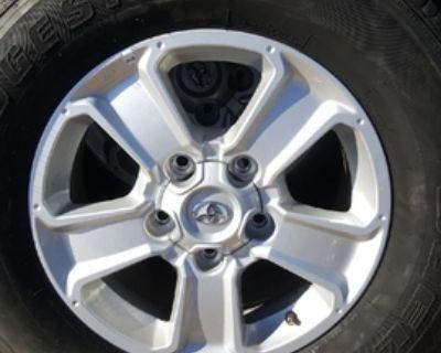 "Toyota Tundra 18"" alum wheels $200 set"