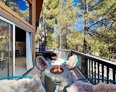 Luxe A-Frame | New Kitchen & Game Room | Scenic Balcony with Gas Firepit - Lake Arrowhead