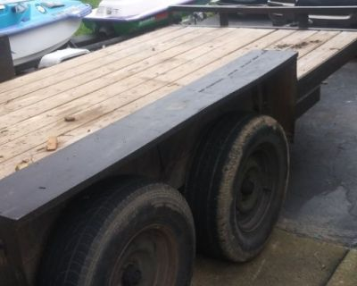 16 ft hauler tandom trailer heavy duty 7000 lb load