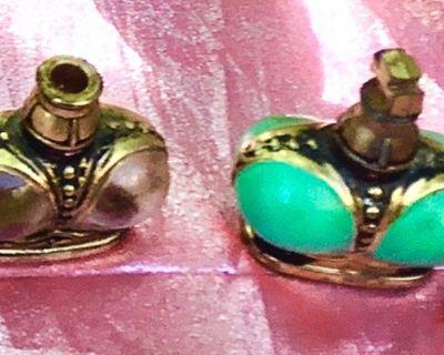 2 Prince Matchabelli Vintage Crown Perfume Bottles