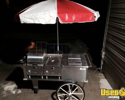 3.7' x 4.5' Hot Dog / Food Vending Push Cart
