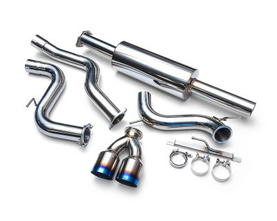 Agency Power Stainlesss Catback Exhaust with Dual Burnt Tips